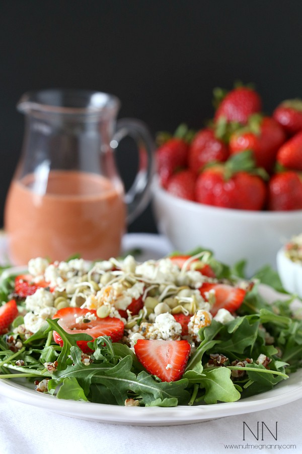 Strawberry Goat Cheese Quinoa Salad | Nutmeg Nanny