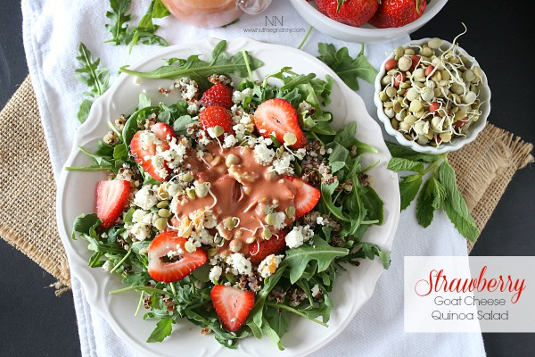 Strawberry Goat Cheese Quinoa Salad by Nutmeg Nanny