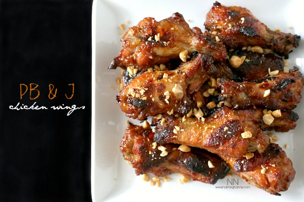 Peanut Butter and Jelly Chicken Wings by Nutmeg Nanny