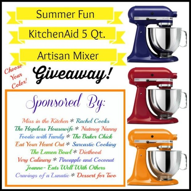 Kitchen Aid Giveaway from Nutmeg Nanny