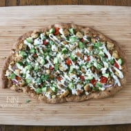 Chicken Souvlaki Pizza by Nutmeg Nanny