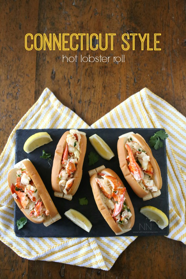 Hot Buttered Lobster Roll Recipe by Nutmeg Nanny