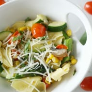 Spring Vegetable Pappardelle by Nutmeg Nanny