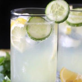 Cilantro Cucumber Boozy Lemonade by Nutmeg Nanny