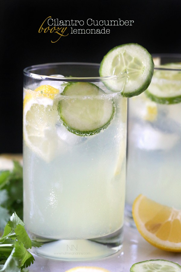 Cilantro Cucumber Boozy Lemonade by Nutmeg Nanny
