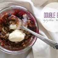 Double Berry Apple Crisp by Nutmeg Nanny