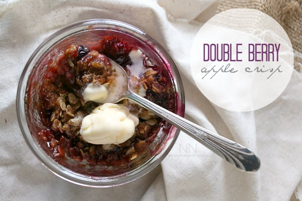 Double Berry Apple Crisp by Nutmeg Nanny