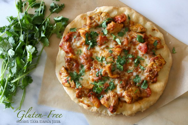 Gluten Free Chicken Tikka Masala Pizza by Nutmeg Nanny