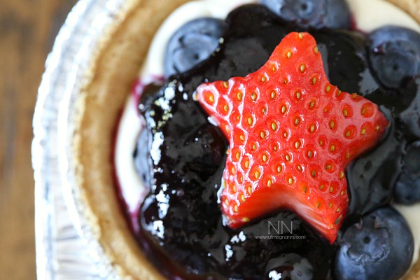 No Bake Blueberry Cheesecake by Nutmeg Nanny