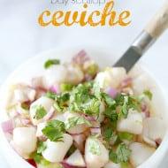 Bay Scallop Ceviche by Nutmeg Nanny