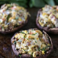 Breakfast Stuffed Mushrooms by Nutmeg Nanny