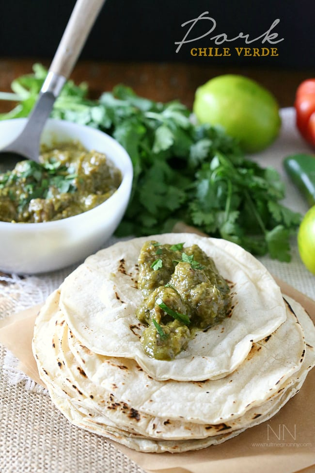 Pork Chile Verde by Nutmeg Nanny