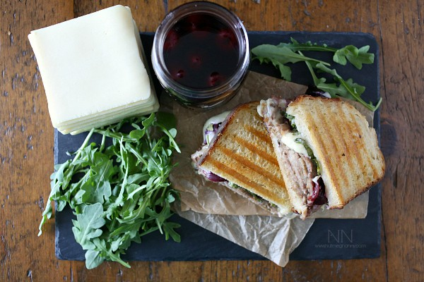 Roast Pork and Pickled Cherry Panini by Nutmeg Nanny