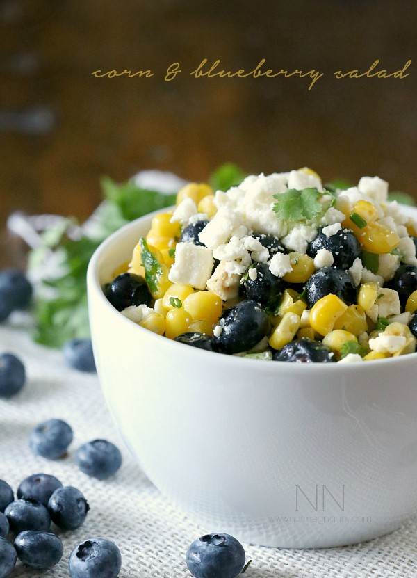 Corn Blueberry Salad by Nutmeg Nanny