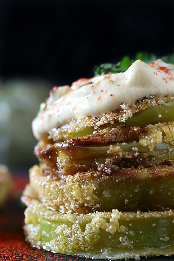 Fried Green Tomatillos by Nutmeg Nanny