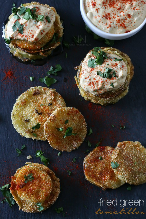 Fried Green Tomatillos by Nutmeg Nanny