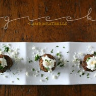 Greek Lamb Meatballs by Nutmeg Nanny