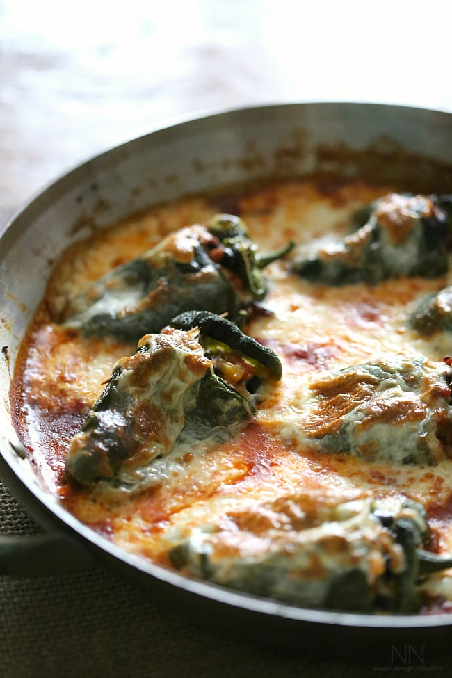 Chorizo Stuffed Poblano Peppers by Nutmeg Nanny