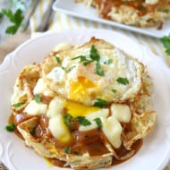 Poutine Hash Brown Waffles by Nutmeg Nanny