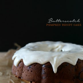This sweet butterscotch pumpkin bundt cake is packed full of pumpkin and sweet butterscotch morsels. Then I drizzled it with a cream cheese glaze and called it my new favorite cake.
