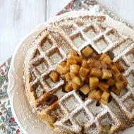 Gluten Free Apple Cinnamon Waffles by Nutmeg Nanny