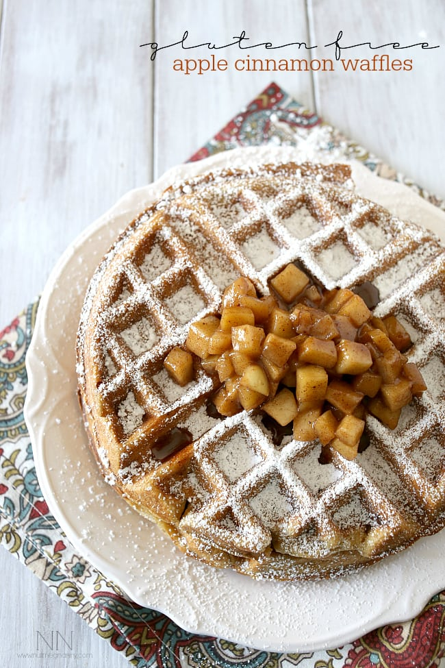 Gluten Free Apple Cinnamon Waffles by Nutmeg Nanny