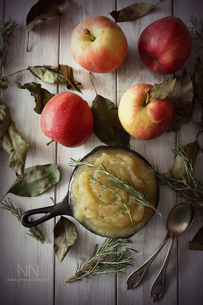 Herbed Applesauce by Nutmeg Nanny