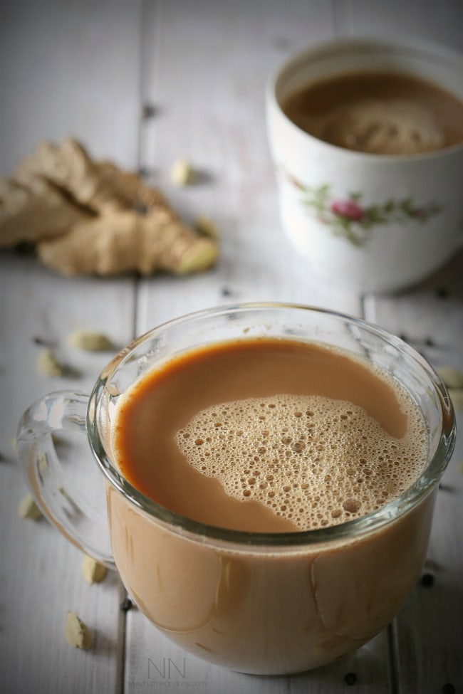 This dairy free, vegan soy chai tea latte is packed full of ginger, cardamom and black tea flavor. Why spend money at the store when you can make it at home?