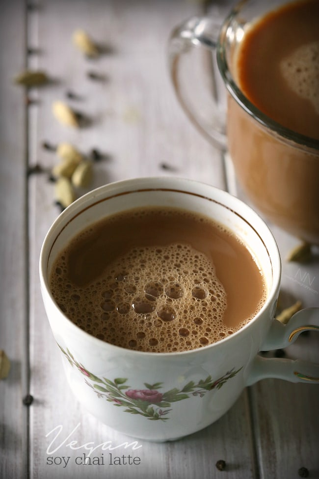 Vegan Soy Chai Latte by Nutmeg Nanny