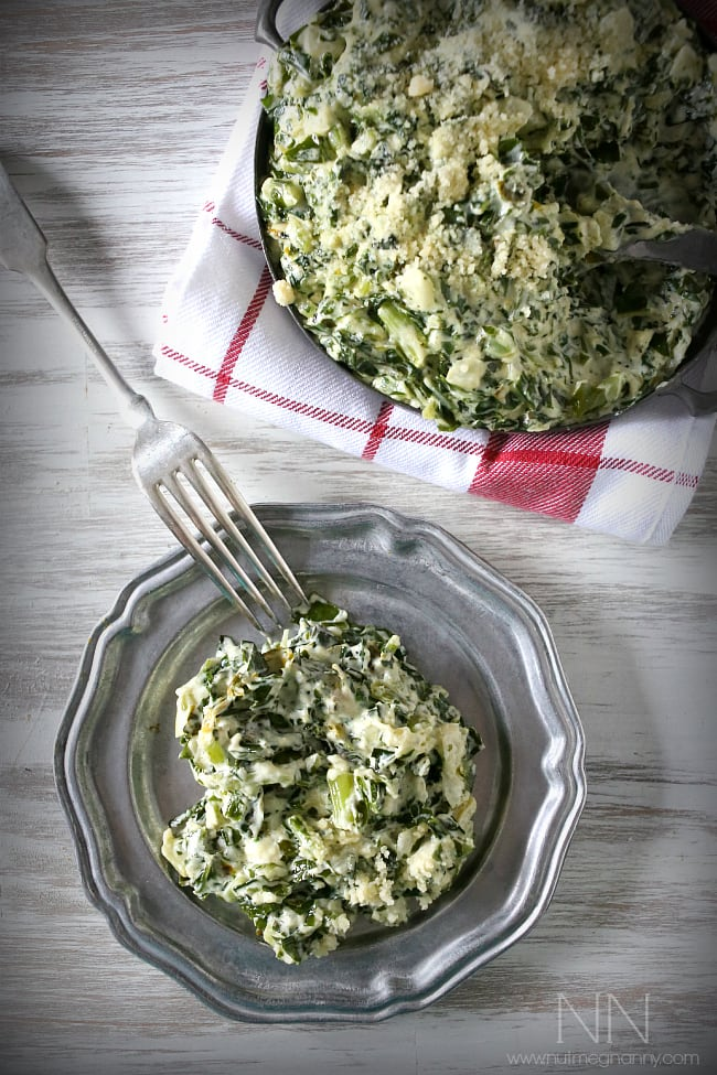 Creamed Kale | Nutmeg Nanny