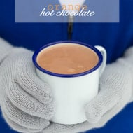 This orange hot chocolate is ready in less than 10 minutes and is perfect for cold winter days.