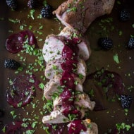 This pork tenderloin with blackberry mint sauce is packed full of sweet fruity flavor. Blackberries combined with mint, port wine and sweet dark maple syrup.
