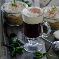 This traditional Irish coffee is made the classic way - brown sugar, coffee, Jameson Irish whiskey and whipped cream. It warms you up and is ready in just 10 minutes!