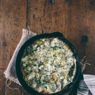 This mushroom herb goat cheese frittata is packed full of fresh grown AeroGarden herbs, tangy goat cheese and caramelized mushrooms. Hello breakfast deliciousness!