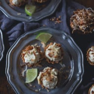 These no bake coconut lime cheesecake bites are the perfect party food. Super simple to make and ready in under 30 minutes. Say hello to dessert!