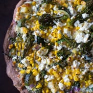 This zucchini corn feta pizza is the perfect way to say goodbye to summer. Packed full of fresh vegetable flavor, cheesy feta and fresh herbs all on a whole wheat crust.