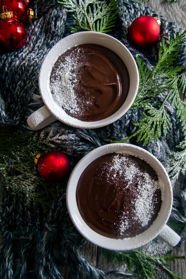 This French hot chocolate pudding tastes just like Parisian hot chocolate but in pudding form. Deep chocolate flavor with just a touch of sweetness. If you're a chocolate lover this dessert is for you!