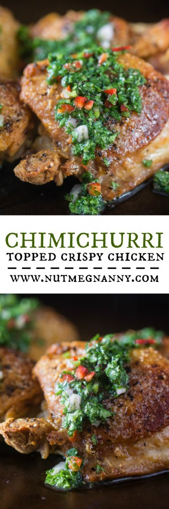This chimichurri crispy chicken is the perfect weeknight dinner. Ready in just about 30 minutes and PACKED full of flavor. You'll love this dish!