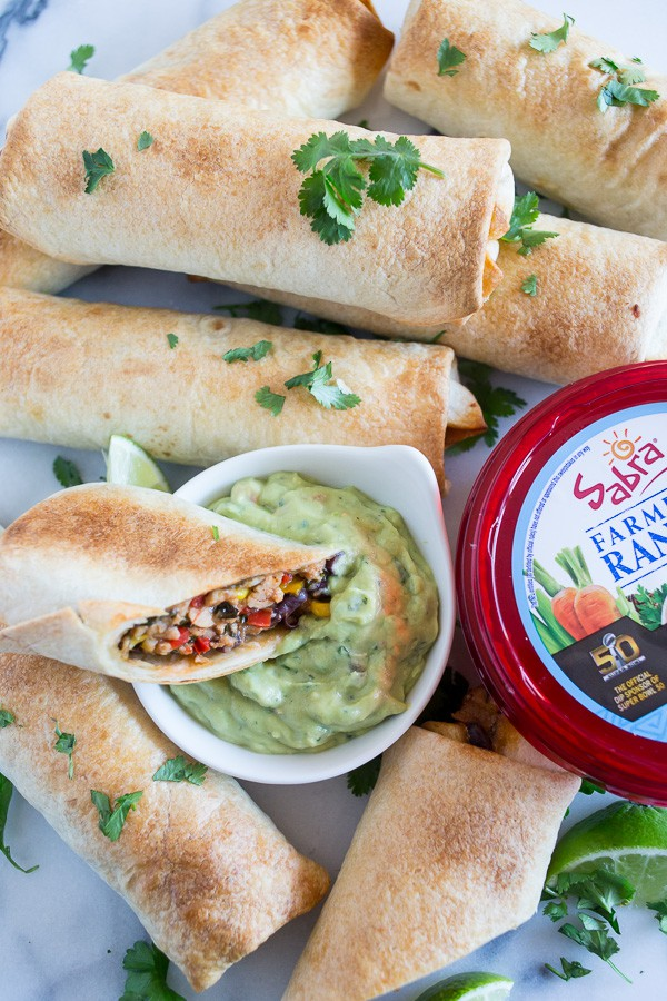 These baked Southwestern chicken egg rolls taste just like the ones you get at Chili's but without all the deep fried calories because they're baked! Ready in just 45 minutes!