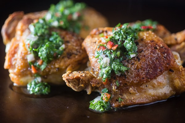 This chimichurri crispy chicken is the perfect weeknight dinner.