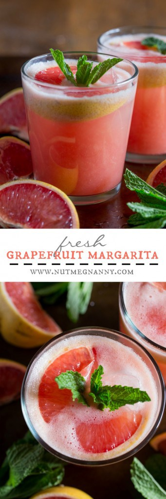 This fresh grapefruit margarita is packed full of grapefruit and lime flavor.