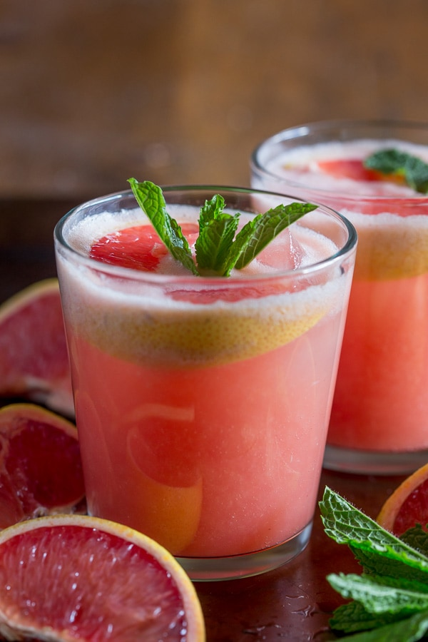 This fresh grapefruit margarita is packed full of grapefruit and lime flavor. Serve it on the rocks or frozen.