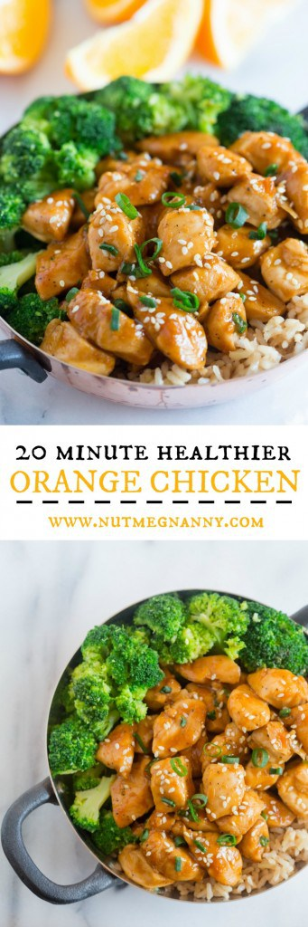 This 20 minute healthier orange chicken is the perfect weeknight dish. Trust me, you'll LOVE this dish it's seriously that EASY!