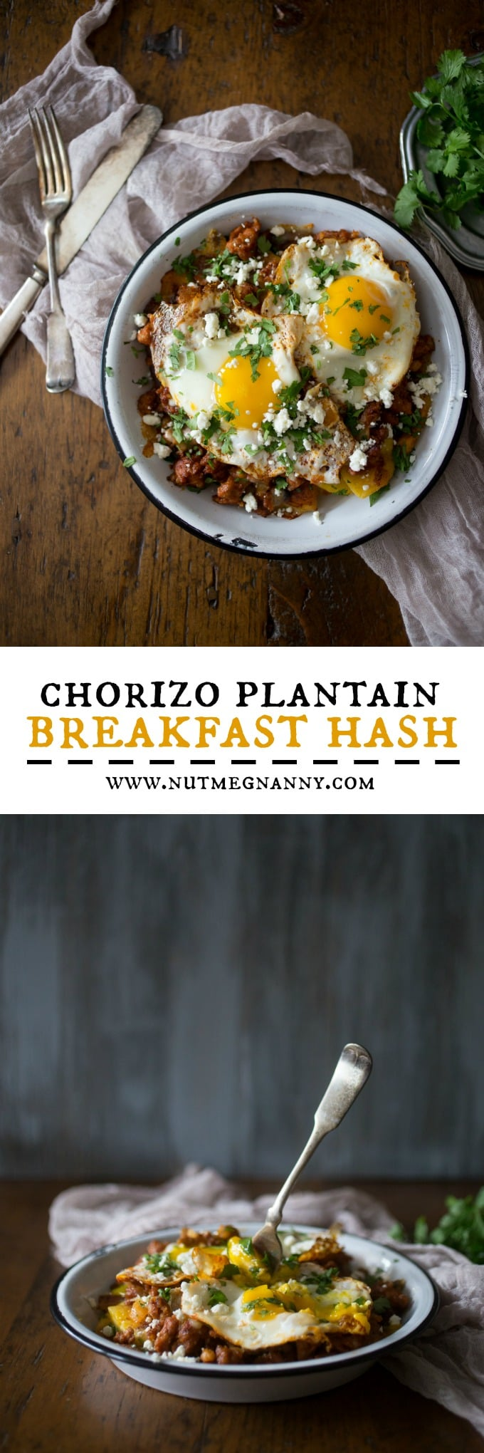 This chorizo plantain breakfast hash is the most delicious way to start your day. Slight sweet and spicy and ready in just 30 minutes!
