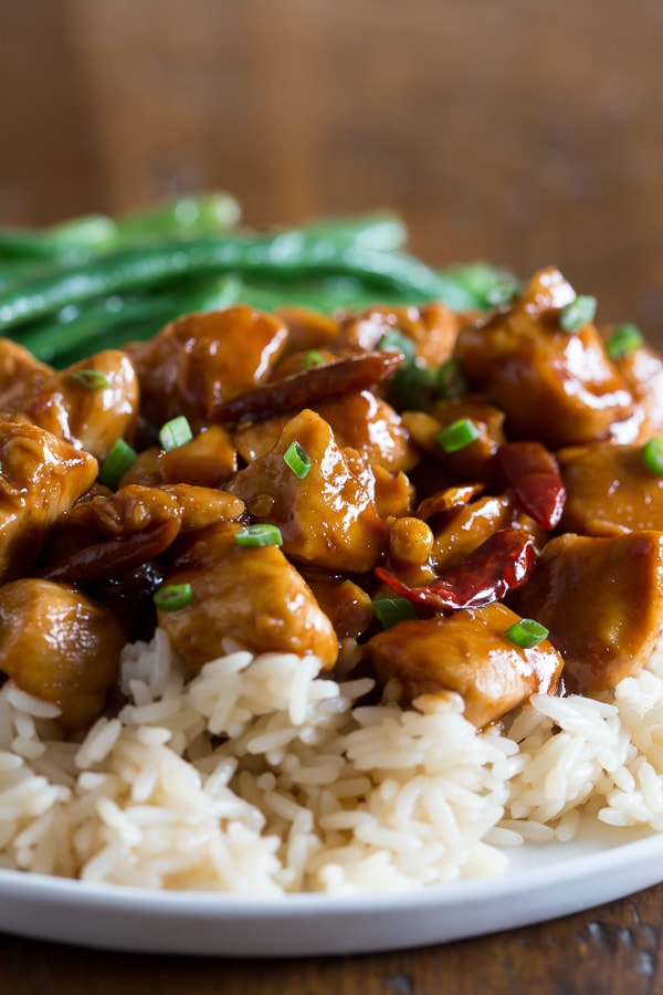 This healthier General Tso's chicken is a quick and easy meal for your weeknight rush. No breading or frying and made with a flavor packed homemade sauce. It's the perfect balance of heat and sweet. Plus it's ready in just 25 minutes!