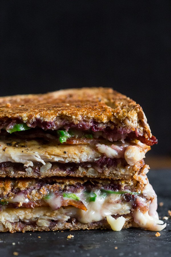 This mixed berry chicken bacon jalapeno grilled cheese is the perfect way to spice up your sandwich routine. It's sweet and savory with just a hint of heat. Trust me, you'll love this delicious melty sandwich.