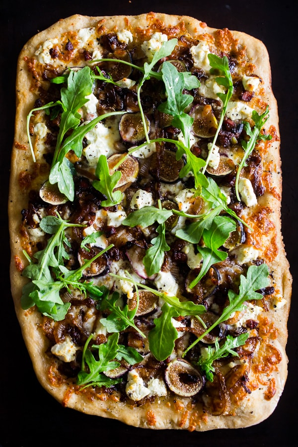 This fig caramelized onion pizza is full of flavor and ready in no time. You'll love this flavor packed pizza and be craving it all. fall. long. Trust me, this pizza needs to be made ASAP!