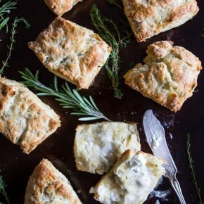 These super simple homemade herb biscuits are delicious when served warm with lots of butter and a drizzle (or two!) of sweet Truvia Nectar. If you have never made biscuits before you'll in awe at how easy they are to make!