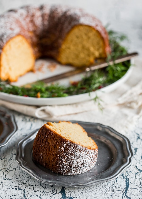 This cream sherry bundt cake is my favorite part about the holiday season. It's super simple to make and only uses 6 ingredients! Lightly dust with powdered sugar before serving and watch your guests fall in love with this tasty treat!