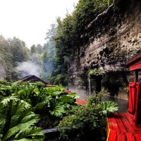 If you find yourself in Chile you must visit the Termas Geometricas near Pucon Chile. These natural hot springs are the perfect chilly rainy day activity. 17 different hot springs nestled in the mountains with a few cooling plunge pools. These hot springs are a MUST for any trip to Chile.